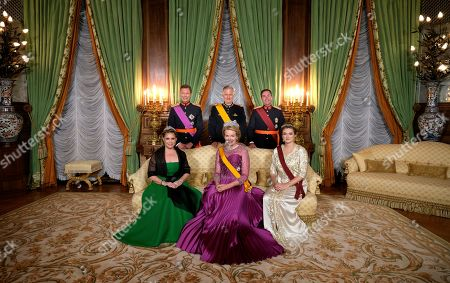 Grand Duke Henri of Luxembourg, Grand Duchess Maria Teresa of Luxembourg, King Philippe - Filip of Belgium, Queen Mathilde of Belgium and Hereditary Grand Duke Guillaume of Luxembourg, hereditary Grand-Duke of Luxembourg and Belgian Countess Stephanie de Lannoy