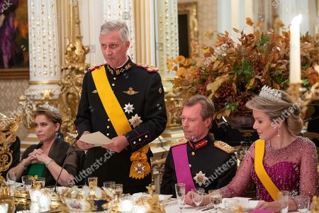 Grand Duchess Maria Teresa of Luxembourg, Queen Mathilde, King Philippe and Grand Duke Henri of Luxembourg