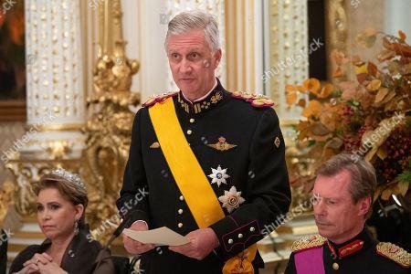 Grand Duchess Maria Teresa of Luxembourg, King Philippe and Grand Duke Henri of Luxembourg