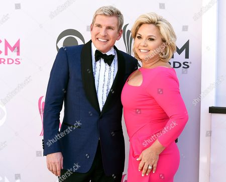 """Todd Chrisley, Julie Chrisley. Todd Chrisley, left, and his wife Julie Chrisley at the 52nd annual Academy of Country Music Awards in Las Vegas. The couple are accusing a Georgia tax official of abusing his office to pursue """"bogus tax evasion claims"""" against them. A spokesman for the Chrisleys said that the """"Chrisley Knows Best"""" stars filed a federal lawsuit Tuesday against Joshua Waites, the director of the Georgia Department of Revenue's office of special investigations. The lawsuit says Waites targeted Todd Chrisley's estranged daughter and improperly shared confidential tax information to try to get compromising information"""