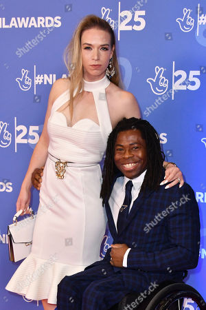Linda Harrison and Ade Adepitan