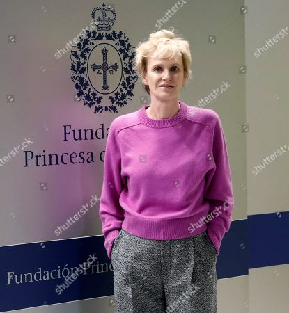 US writer Siri Hustvedt attends a press conference on her distinction with the Princess of Asturias Award for Literature, in Oviedo, Spain, 15 September 2019. The Princess of Asturias Awards are given every year to personalities or organizations from all around the world who make significant achievements in the sciences, arts, literature, humanities and sports. The ceremony will be held on 18 October 2019.