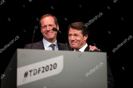 Christian Prudhomme and Christian Estrosi