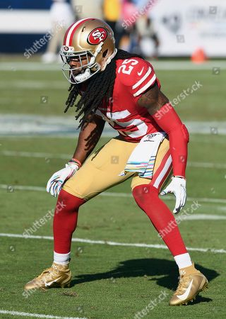 San Francisco 49ers cornerback Richard Sherman (25) in action during an NFL football game against the Los Angeles Rams, in Los Angeles. The 49ers defeated the Rams 20-7