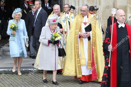 Camilla Duchess of Cornwall, Queen Elizabeth II and The Very Reverend John Hall