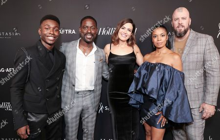 Niles Fitch, Sterling K. Brown, Mandy Moore, Susan Kelechi Watson and Chris Sullivan