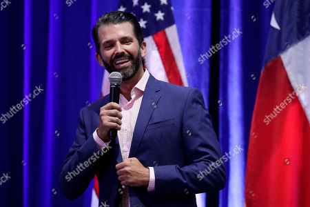 Stock Photo of Donald Trump, Jr. speaks to supporters of his father, President Donald Trump, during a panel discussion, in San Antonio