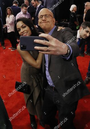 Stock Image of Rosario Dawson and John Heilemann