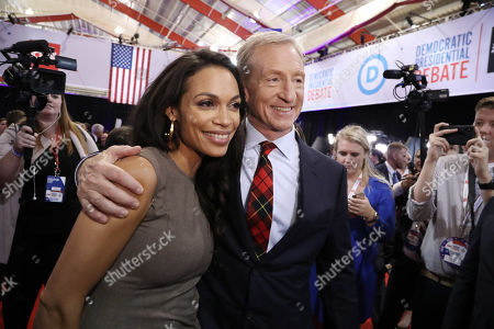 Rosario Dawson and Tom Steyer