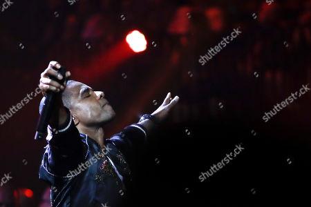 Kirk Franklin performs during the Dove Awards, in Nashville, Tenn