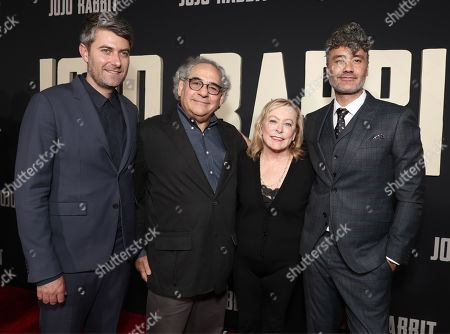 Carthew Neal, Chairman of Fox Searchlight Steve Gilula, Chairman of Fox Searchlight Nancy Utley and Taika Waititi