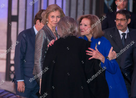 Former Queen Sofia and Princess Irene of Grecee