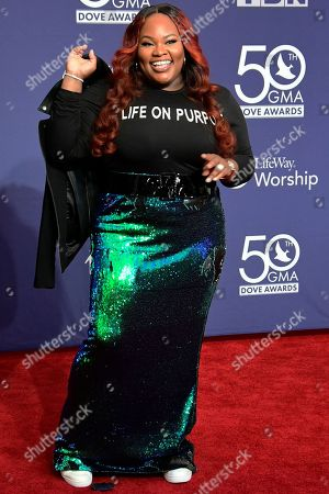 Editorial image of GMA Dove Awards, Arrivals, Lipscomb University, Nashville, Tennessee, USA - 15 Oct 2019