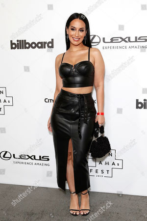 Mexican singer Victoria La Mala arrives at the Billboard Latin AMA Fest at NeueHouse, in Hollywood, Los Angeles, California, USA, 15 October 2019. The Billboard Latin AMAs will take place in Los Angeles, California on 17 October 2019.