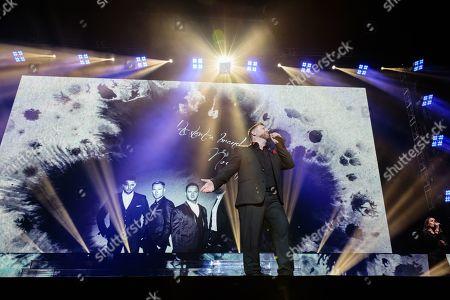 Stock Image of Keith Duffy, Ronan Keating and Mikey Graham - Boyzone