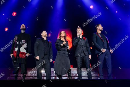 Editorial picture of Boyzone in concert at the Resorts World Arena, Birmingham, UK - 15 Oct 2019
