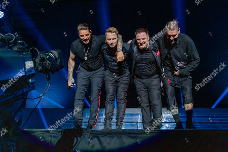 Stock Picture of Keith Duffy, Ronan Keating, Mikey Graham and Shane Lynch - Boyzone