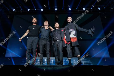 Stock Photo of Keith Duffy, Ronan Keating, Mikey Graham and Shane Lynch - Boyzone