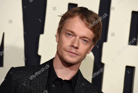 "Alfie Allen arrives at the Los Angeles premiere of ""Jojo Rabbit"" at the Hollywood American Legion Post 43 on"