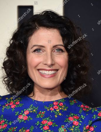 """Stock Image of Lisa Edelstein arrives at the Los Angeles premiere of """"Jojo Rabbit"""" at the Hollywood American Legion Post 43 on"""