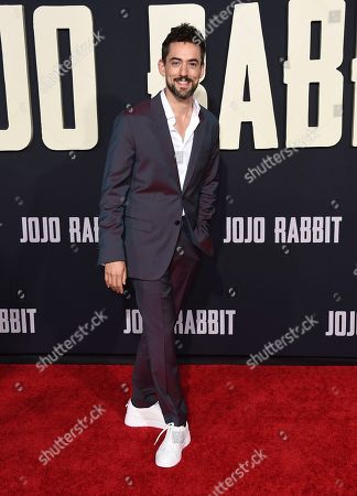 """Luis Gerardo Mendez arrives at the Los Angeles premiere of """"Jojo Rabbit"""" at the Hollywood American Legion Post 43 on"""