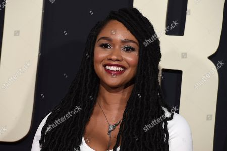 """Tanisha Long arrives at the Los Angeles premiere of """"Jojo Rabbit"""" at the Hollywood American Legion Post 43 on"""