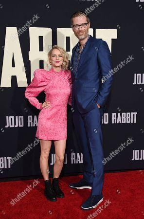 "Stephen Merchant, Mircea Monroe. Stephen Merchant, right, and Mircea Monroe arrive at the Los Angeles premiere of ""Jojo Rabbit"" at the Hollywood American Legion Post 43 on"