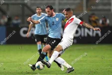 Editorial image of Uruguay Soccer, Lima, Peru - 15 Oct 2019