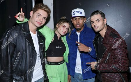 Christian Acosta, Becky G, Myke Towers and Abraham Mateo