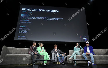 Abraham Mateo, Sofia Reyes, Christian Acosta, Kali Uchis and Myke Towers