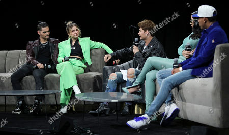 Stock Photo of Abraham Mateo, Sofia Reyes, Christian Acosta, Kali Uchis and Myke Towers