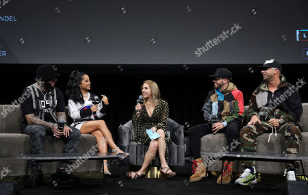 Farruko, Becky G, Leila Cobo, Yandel and Juan Luis Morera Luna