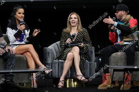 Becky G, Leila Cobo and Yandel