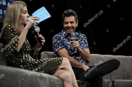 Leila Cobo and Eugenio Derbez