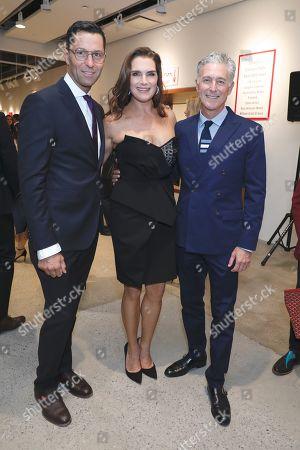 Greg Unis, Brooke Shields and David Kratz