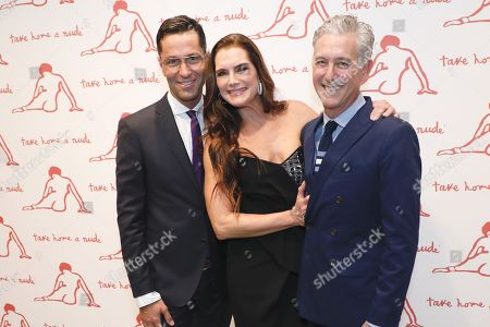 Stock Picture of Greg Unis, Brooke Shields and David Kratz