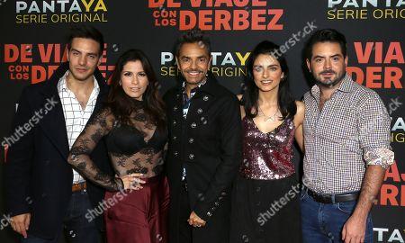 Vadhir Derbez, Alessandra Rosaldo, Eugenio Derbez, Aislinn Derbez and Jose Eduardo Derbez