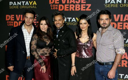 Vadhir Derbez, Alessandra Rosaldo, Eugenio Derbez, Aislinn Derbez and Jose Eduardo Derbez