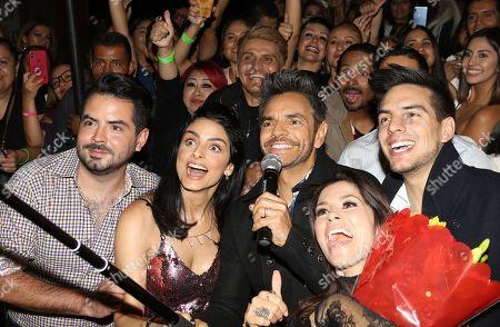 Jose Eduardo Derbez, Aislinn Derbez, Eugenio Derbez, Alessandra Rosaldo and Vadhir Derbez