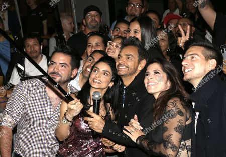 Stock Photo of Jose Eduardo Derbez, Aislinn Derbez, Eugenio Derbez, Alessandra Rosaldo and Vadhir Derbez