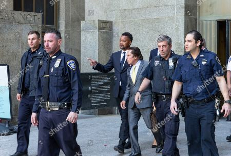 Actor Cuba Gooding Jr. and attorney Mark Heller exit court after arraignment in Manhattan's New York State Supreme Court