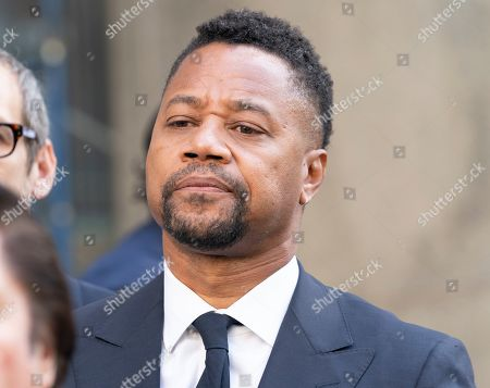 Actor Cuba Gooding Jr. leaves after his arraignment at New York State Supreme Court in Manhattan