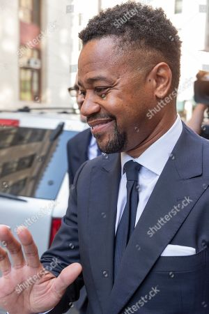 Stock Photo of Actor Cuba Gooding Jr. leaves after his arraignment at New York State Supreme Court in Manhattan