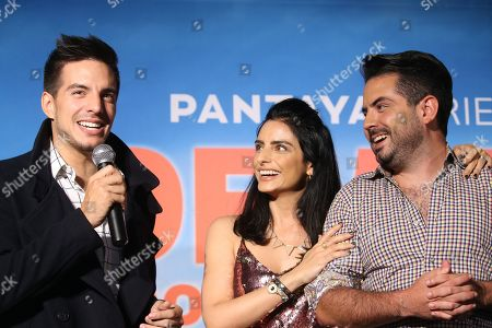 Vadhir Derbez, Aislinn Derbez and Jose Eduardo Derbez