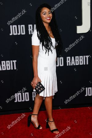 Editorial image of 'Jojo Rabbit' film premiere, Arrivals, Hollywood American Legion, Los Angeles, USA - 15 Oct 2019