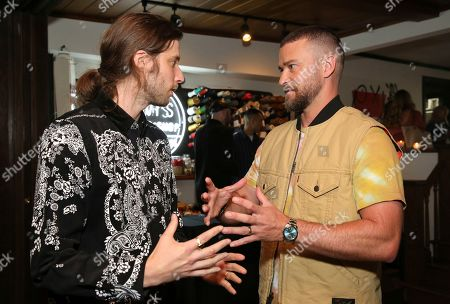 Ludwig Goransson, Justin Timberlake. Ludwig Goransson and Justin Timberlake attend the Levi's Music Project with Justin Timberlake and FW19 Collection Launch at the Levi's Haus, in Los Angeles