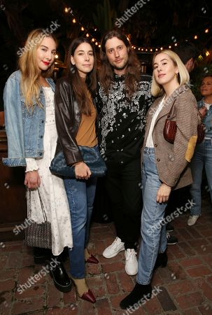 Este Haim, Danielle Haim, Ludwig Goransson, Alana Haim. Este Haim, Danielle Haim, Ludwig Goransson and Alana Haim attend the Levi's Music Project with Justin Timberlake and FW19 Collection Launch at the Levi's Haus, in Los Angeles