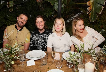 Justin Timberlake, Ludwig Goransson, Alana Haim, Este Haim. Justin Timberlake, Ludwig Goransson, Alana Haim and Este Haim attend the Levi's Music Project with Justin Timberlake and FW19 Collection Launch at the Levi's Haus, in Los Angeles