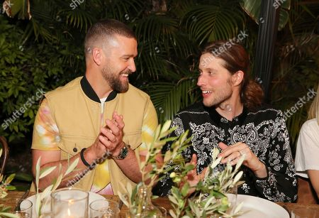 Justin Timberlake, Ludwig Goransson. Justin Timberlake and Ludwig Goransson attend the Levi's Music Project with Justin Timberlake and FW19 Collection Launch at the Levi's Haus, in Los Angeles