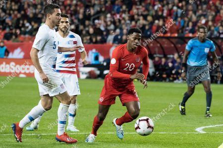 Editorial photo of Canada v USA, Nations League qualifier football match, Toronto, Canada - 15 Oct 2019